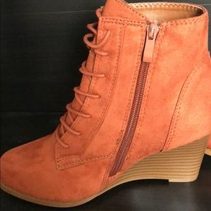 ee2c08fdee30d Journee Collection Shoes - Journee Collection Magely Wedge Bootie in Rust